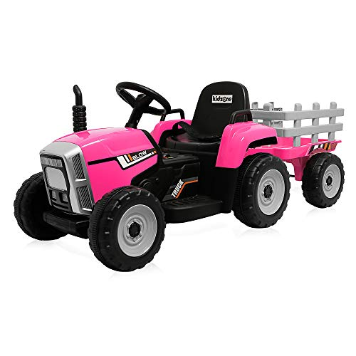 Kidzone 12V 7AH Kids Battery Powered Electric Tractor with...