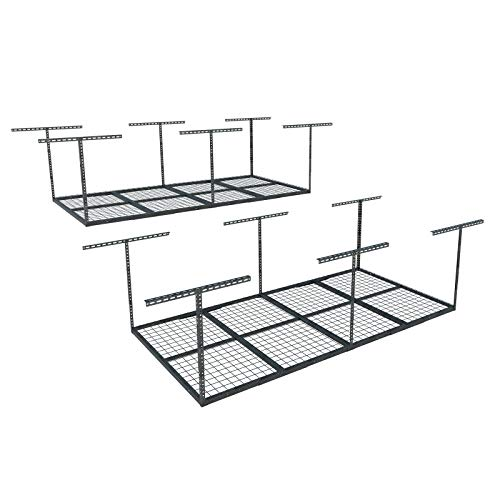 FLEXIMOUNTS 2-Piece Overhead Garage Storage Rack Set...