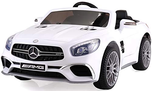 TOBBI Licensed Mercedes Benz 12V Kids Ride On Car with...