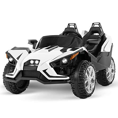 Uenjoy 2 Seats Kids Car 12V Ride On Racer Cars Battery...