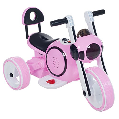 3 Wheel LED Mini Motorcycle Trike, Ride on Toy for Kids by...