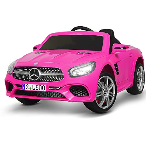 Uenjoy 12V Licensed Mercedes-Benz SL500 Kids Ride On Car...