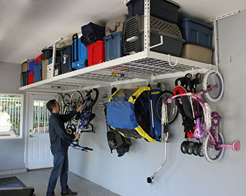 SafeRacks Overhead Garage Storage Combo Kit | Two 4 ft. x 8...