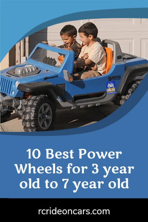 10 Best Power Wheels for 3 year old to 7 year old