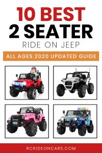 10 Best 2 seater ride on jeep   All ages 2020 Updated Guide