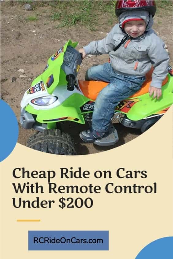 Cheap Ride on Cars With Remote Control