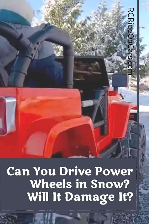 Power Wheels In Snow