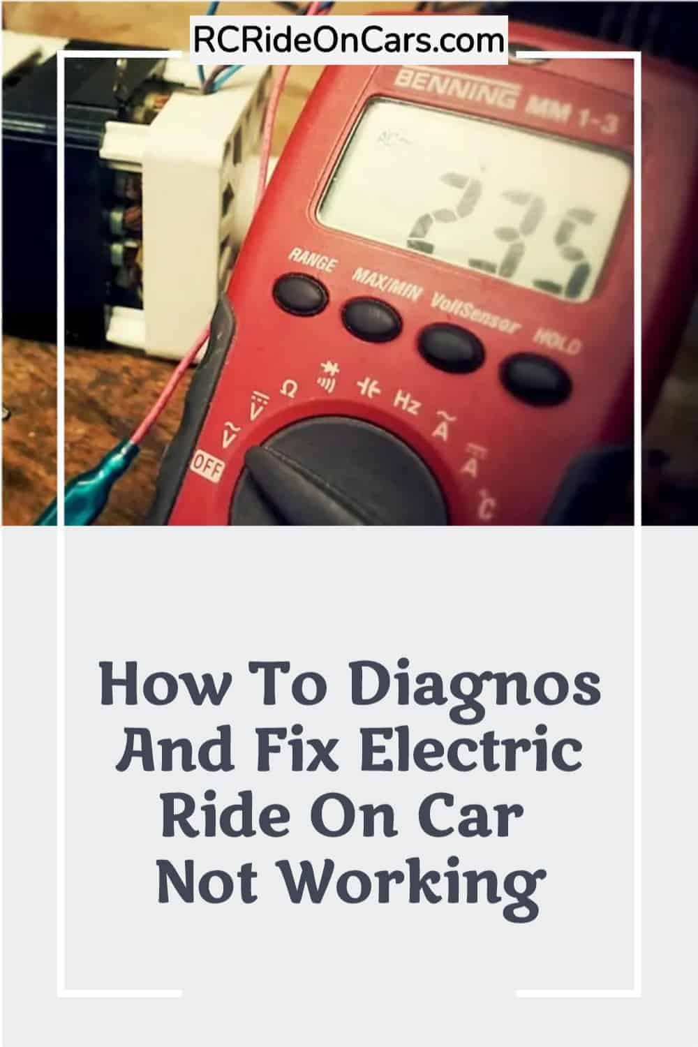 Electric Ride On Car Not Working