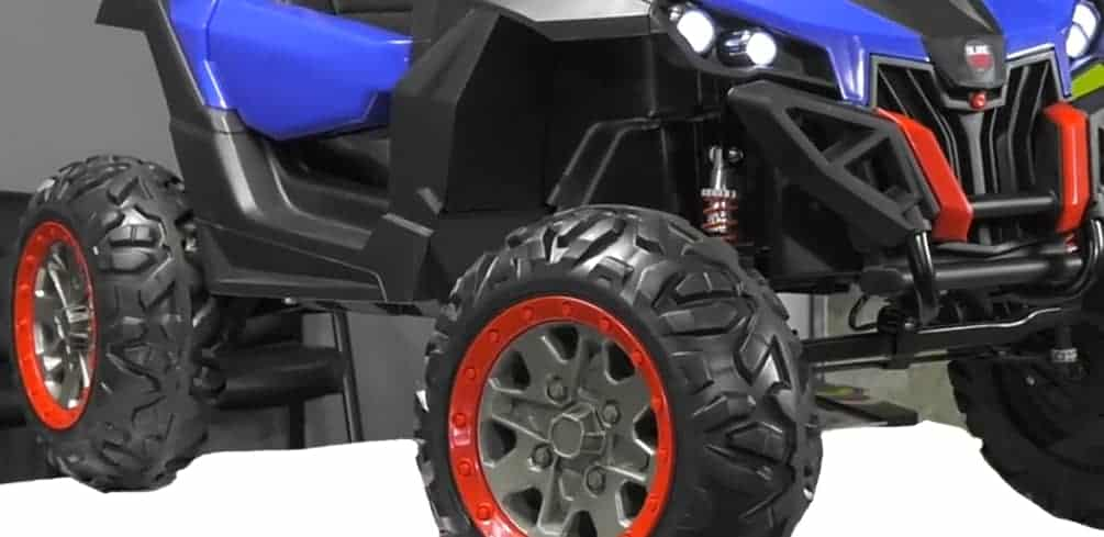4x4 Power Wheels With Rubber Tires