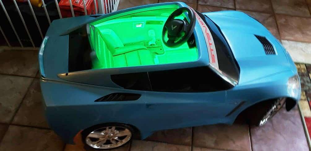 LEDs installed Inside Power Wheels Green Glow