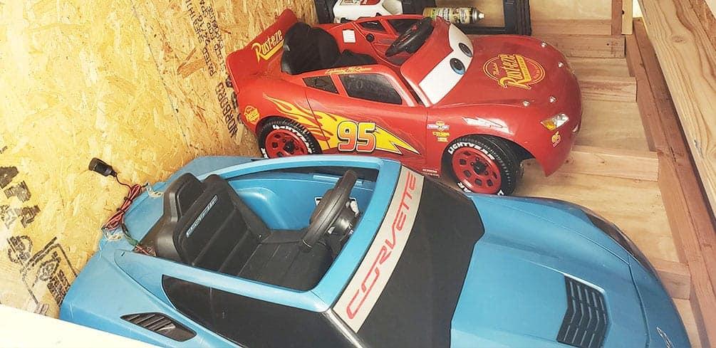 McQueen and Corvette Power Wheels
