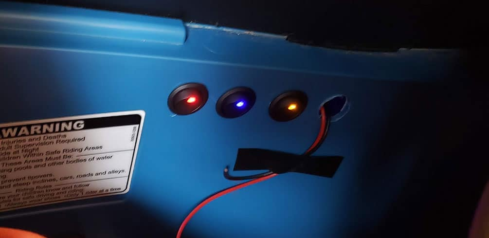 Toggle Switch for LED Lights on Power Wheels