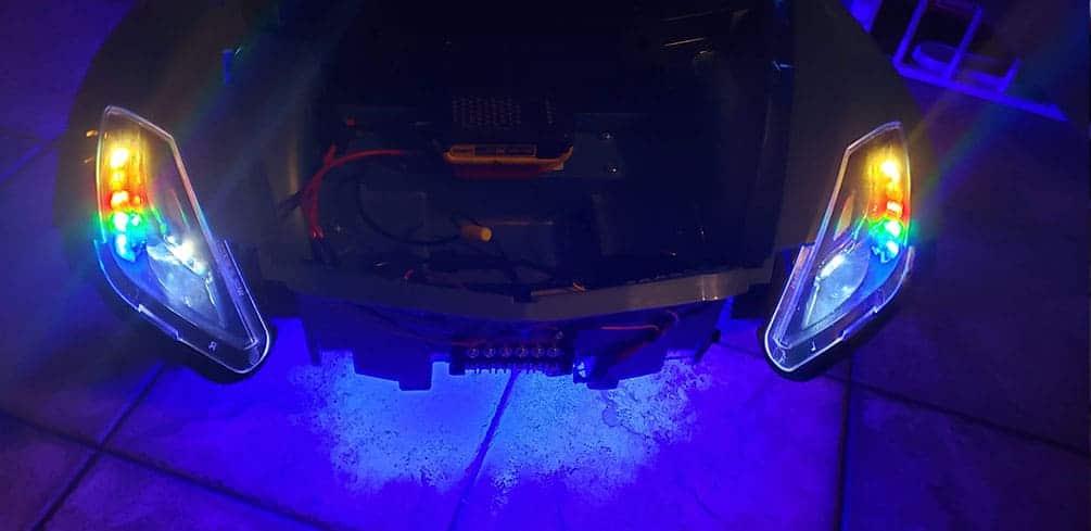 LED Headlights installed on Power Wheels