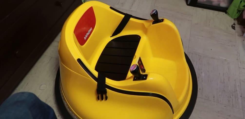 Yellow Kidzone Bumper Car