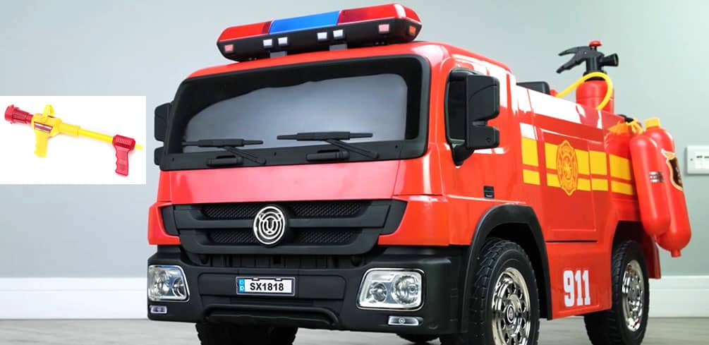 Ride-on Fire Truck with Water Shooting Function