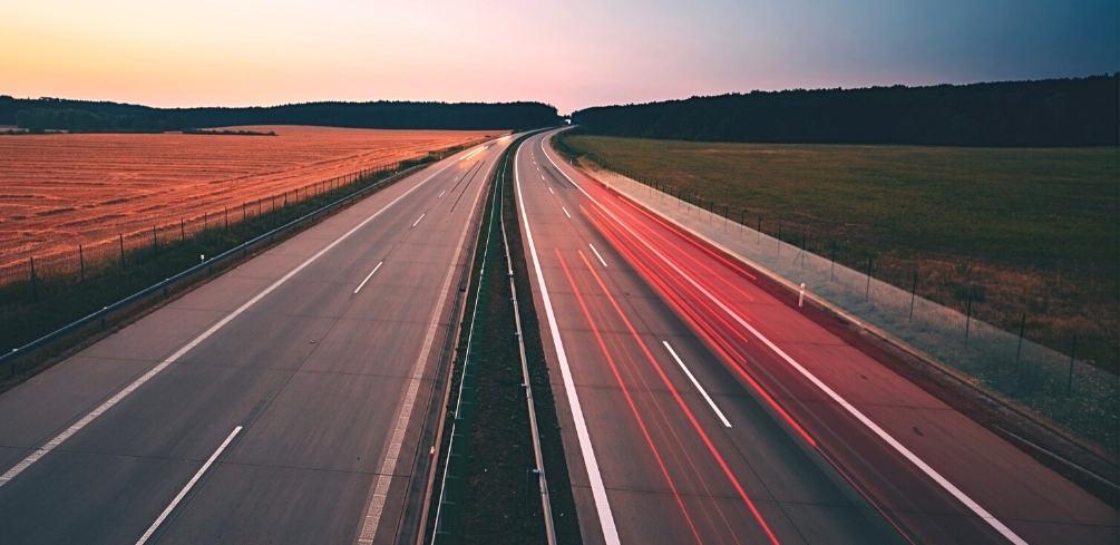 Power Wheels Car on Highway
